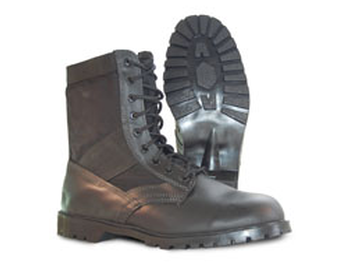 Black Leather Jungle Boot